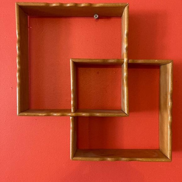 Shadow box shelf wood vintage